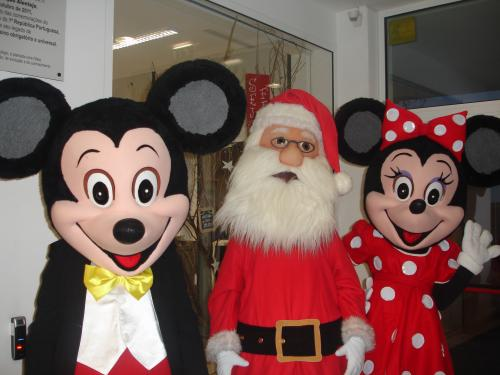 Mickey -- Pai Natal -Minnie