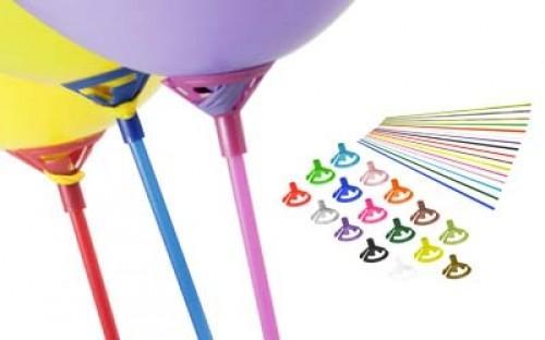 Balões para oferta com vareta